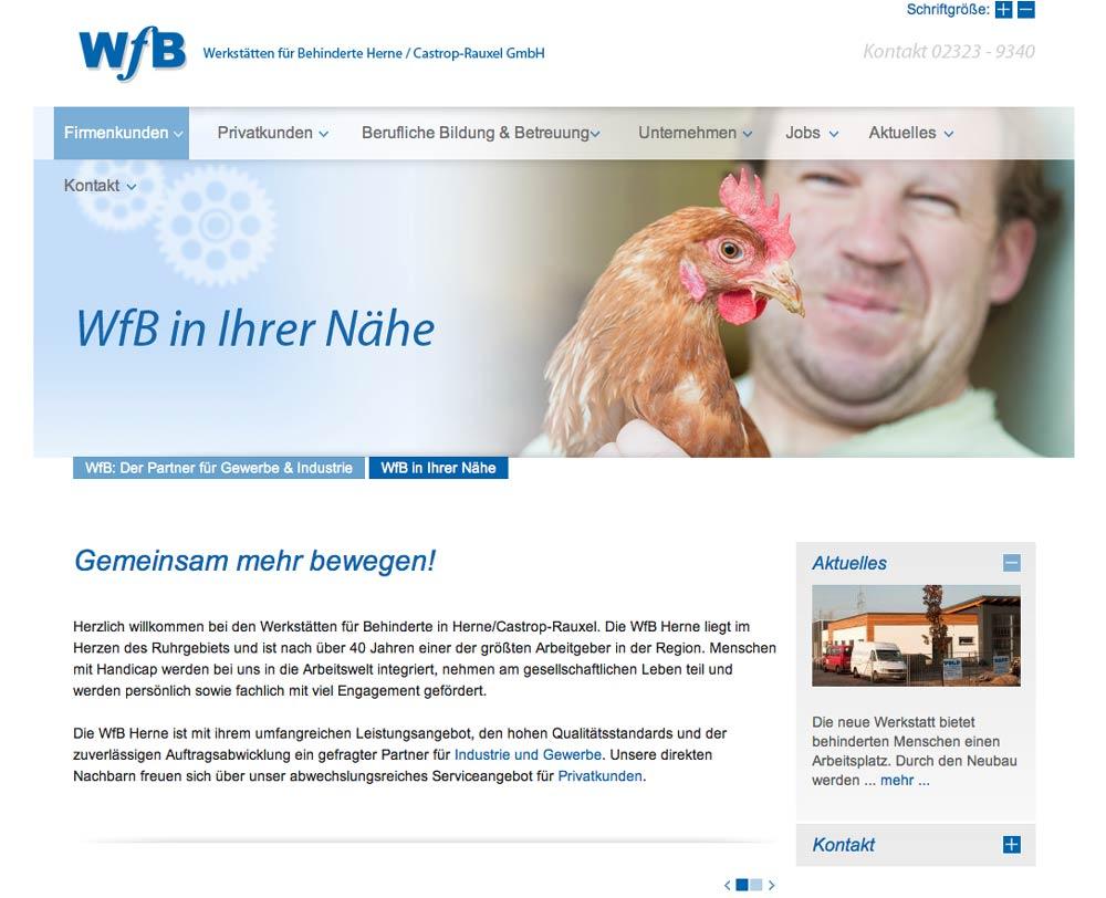 Internetaufritt WfB Herne